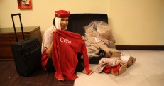 When I received my suitcase with my staff uniform!