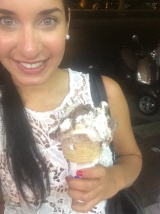 Selfie with the gelato