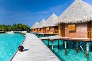 Villa on water, Maldives