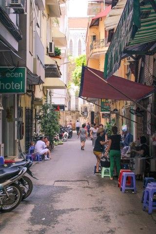 Hanoi narrow streets